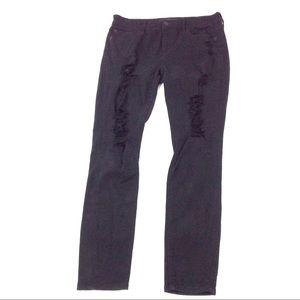 Express Jeans Women Mid Rise Leggings Black 8